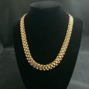 Vintage Gold Mesh Necklace
